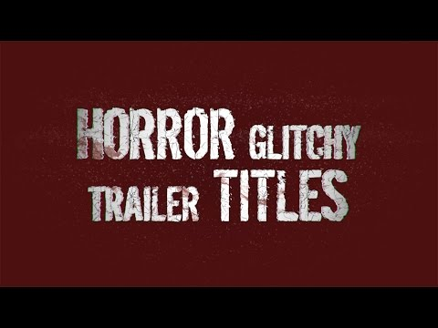 Horror Glitchy Trailer Titles - FREE After Effects Template