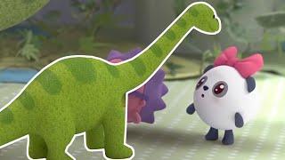 Большой друг - Динозавр - Малышарики - Раскраска для девочек и мальчиков