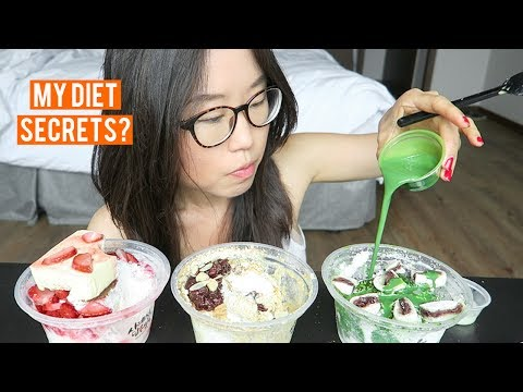 Korean Dessert MUKBANG ♦ Green Tea Bingsoo, Tiramisu Shaved Ice