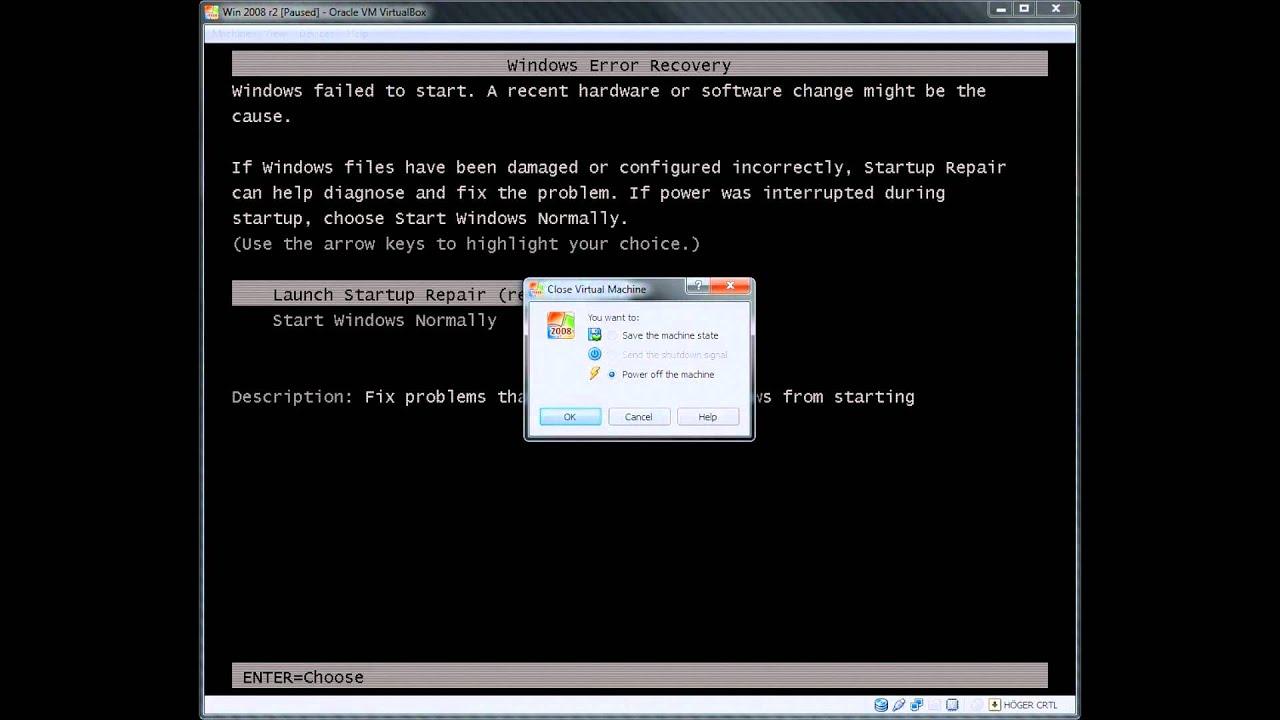 Windows failed to start or 0xc0000225 boot error in Virtualbox