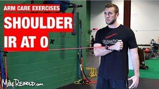 Shoulder Tubing IR at 0 Degrees Exercise - Arm Care Shoulder Program