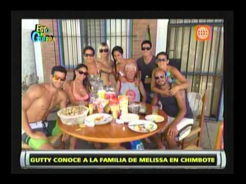 Esto es Guerra: Guty conoció a la familia de Melissa Loza - 01/04/2013