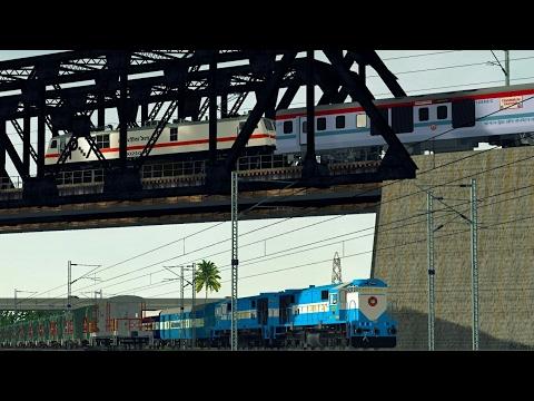 96. IRFCA / MSTS(OR) Indian Railways 12313 Sealdah New Delhi Rajdhani Exp Activity Gameplay Part 1
