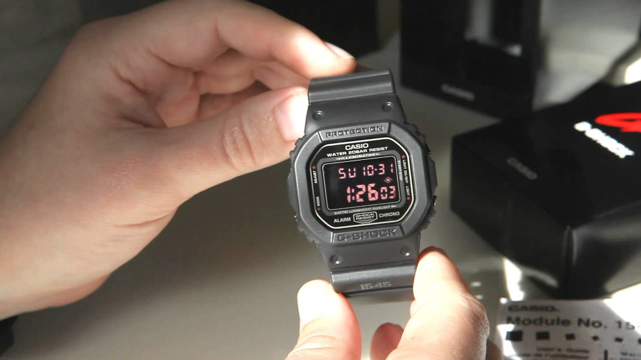 efcb7249e2b62 Review of Casio G-Shock DW-5600MS-1DR Men In Rusty Black - YouTube