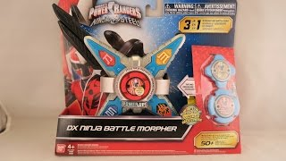 Power Rangers Ninja Steel Limited Edition Color DX Battle Morpher Blue /& Silver
