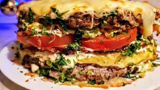 Цыганбургер мясной торт. Новогодний мясной десерт. Gipsy cuisine.