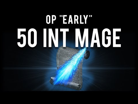 "Dark Souls 2 : OP Early ""50 INT"" Mage (Staff of Wisdom)"