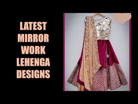 Latest Mirror Work Lehenga Designs