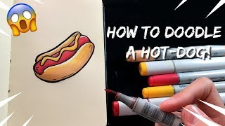 Doodle Friday: HOW TO DOODLE A HOT-DOG   Step by Step Tutorial for Kids