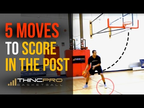 Top 5 Basketball Post Moves! (Centers and Power Forwards) -