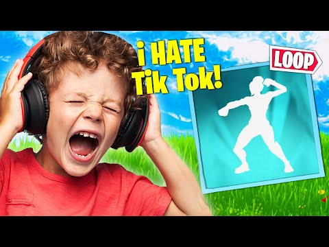 Trolling ANGRY Kid With *NEW* TikTok Stuck Emote!