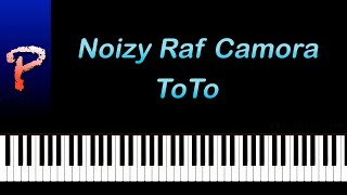 Noizy feat Raf Camora - Toto Piano Tutorial Cover + Sheet Music/Midi