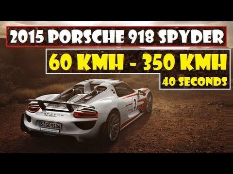 2015 Porsche 918 Spyder World First Stunt 60 Kmh 37 Mph To 350 Kmh 217 Mph Just 40 Seconds