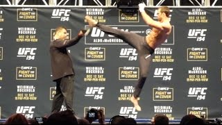 UFC 194: Open Workout Highlights