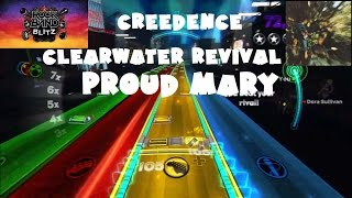 Creedence Clearwater Revival - Proud Mary - @RockBand Blitz Playthrough (5 Gold Stars)