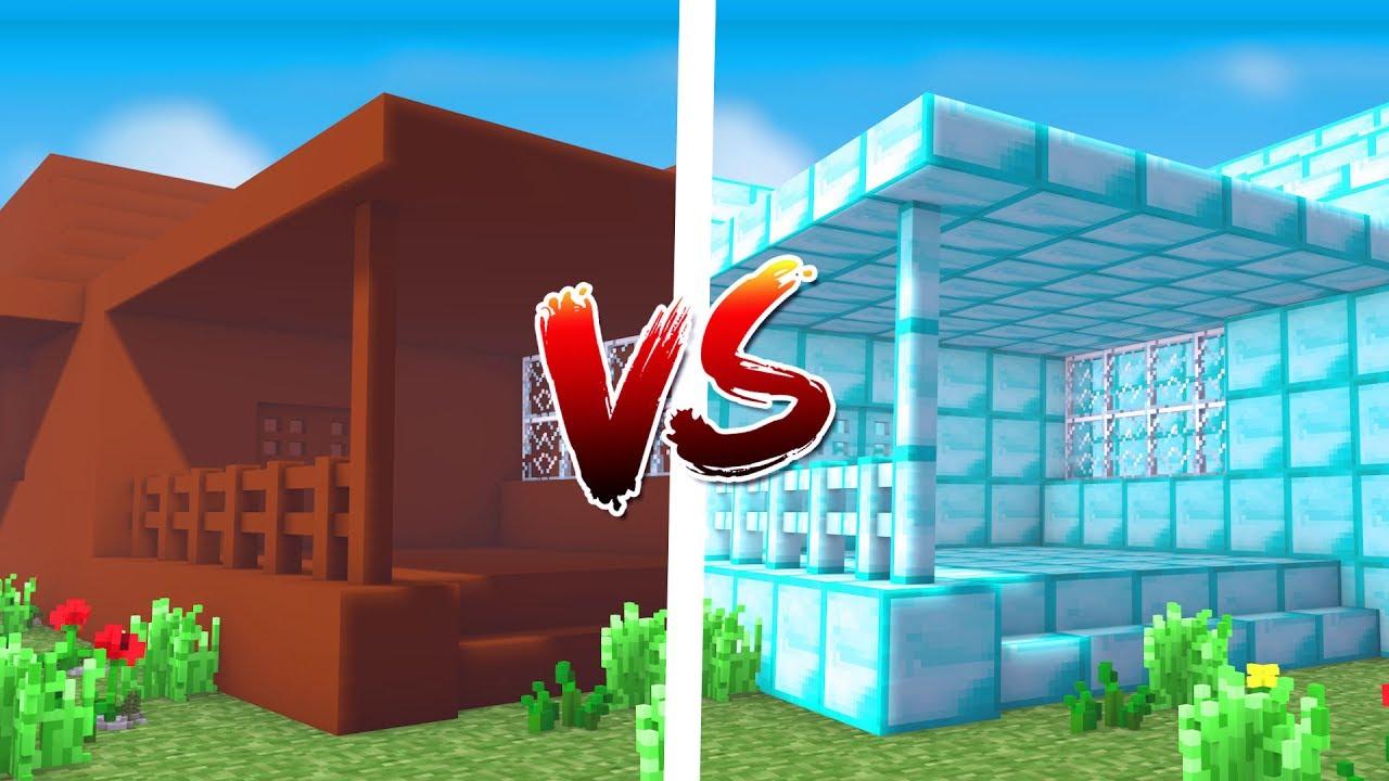 Casa de coco vs casa de diamante minecraft youtube for Parrilla casa de coco