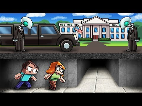 Minecraft   SNEAKING INTO THE WHITE HOUSE! (President vs Aliens)