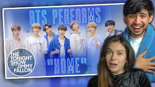 BTS 'HOME' on Jimmy Fallon - FIRST TIME COUPLES REACTION!
