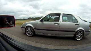 Saab 9000 550hpE85 vs Saab 9000 672hp98gas burnout