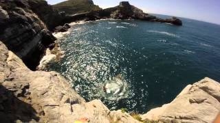 Cliff Diving La Spezia 20 metri Porto Venere Grotta Byron GoPro
