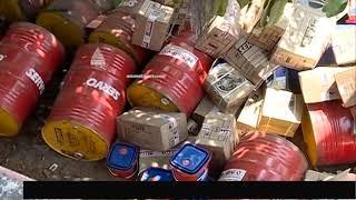 Oil go-down catch fire at Thiruvananthapuram