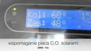 System solarny z wspomaganiem centralnego ogrzewania w zimie przy -10c