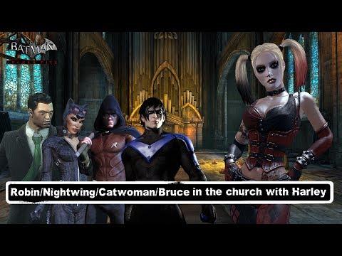 Char Swaps Batman Arkham City Robin Nightwing Catwoman Bruce Wayne Vs Harley Goons
