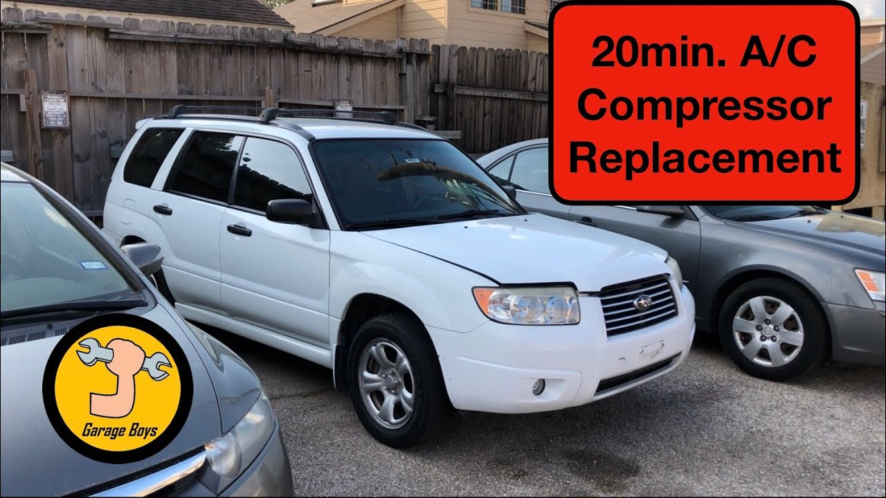 How To Remove A/c Compressor On Subaru Forester