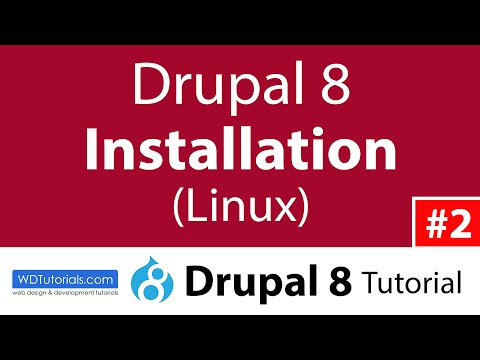 How To Install Drupal 8 (Linux) (Drupal 8 Tutorial #2)