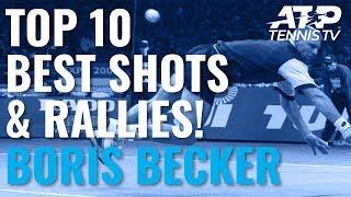 Top 10 Boris Becker ATP Shots & Rallies!