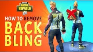 HOW TO EQUIP THE DEFAULT SKIN AND REMOVE BACK BLING FORTNITE SEASON 5 (CHECK DESCRIPTION)