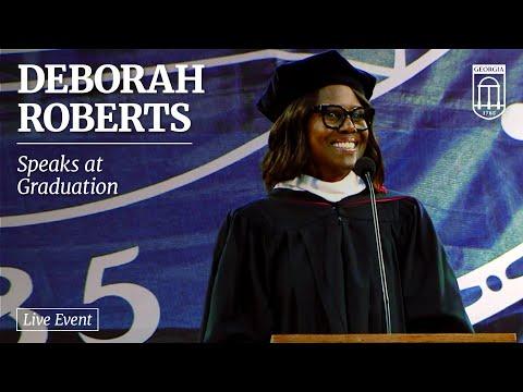 Deborah Roberts Speaks At UGA Graduation