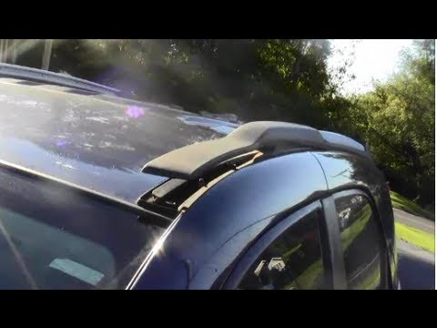 how to remove install roof rack utility bars on 2008 chevy equinox