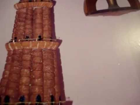 Qutub minar 2003 lourthusamy thoothukudi for Model making with waste material