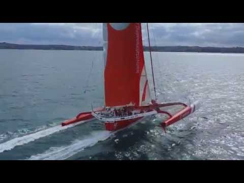 Team Vodafone Sailing World First - Aerial Shots of 4G controlled yatch
