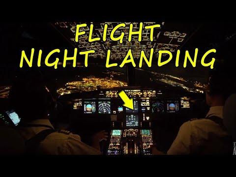 Amazing Flight Night landing | Cockpit view of A380 Plane landing in Tamil