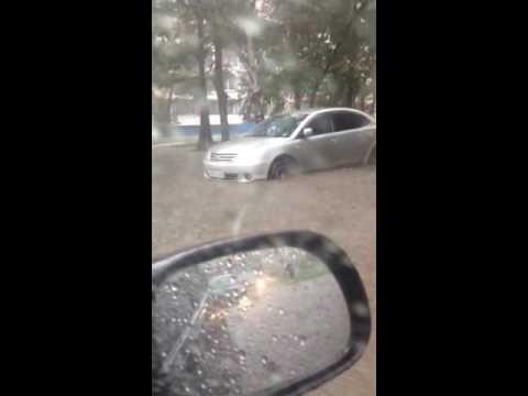 Затопленные улицы Хабаровска
