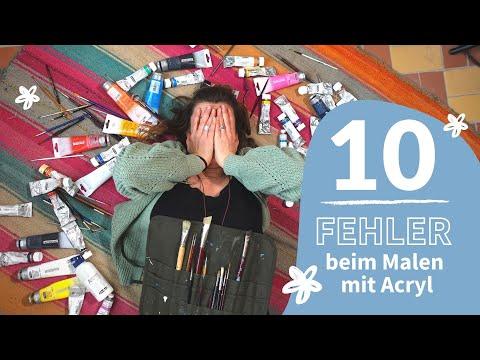 Unzufrieden mit deinem Bild? 10 unnötige Fehler beim Malen mit Acryl + meine Acrylmalerei Tipps