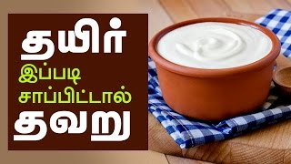 Benefits of eating curd  - It is wrong if you eat curd like this - Tamil Health Tips