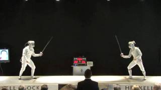 High end sabre fencing: the final of the men