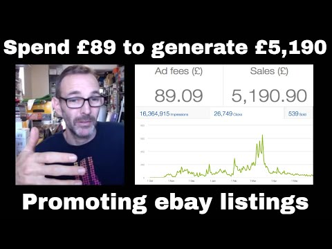 Spend £89 To Generate £5,000+ In Sales - Selling On Ebay - Using Promoted Listings