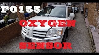 How to p0155 remove replace 02 o2 Oxygen sensor Mitsubishi endeavor