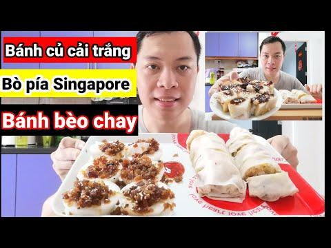 Ẩm thực Singapore, bò pía và Bánh bèo chay với bánh củ cải trắng ở Singapore như thế nào
