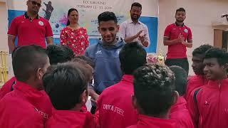 Pratik Choudhari And Mobashir Rahman Commemorated The Winners At TCC Football Ground, Sonari.