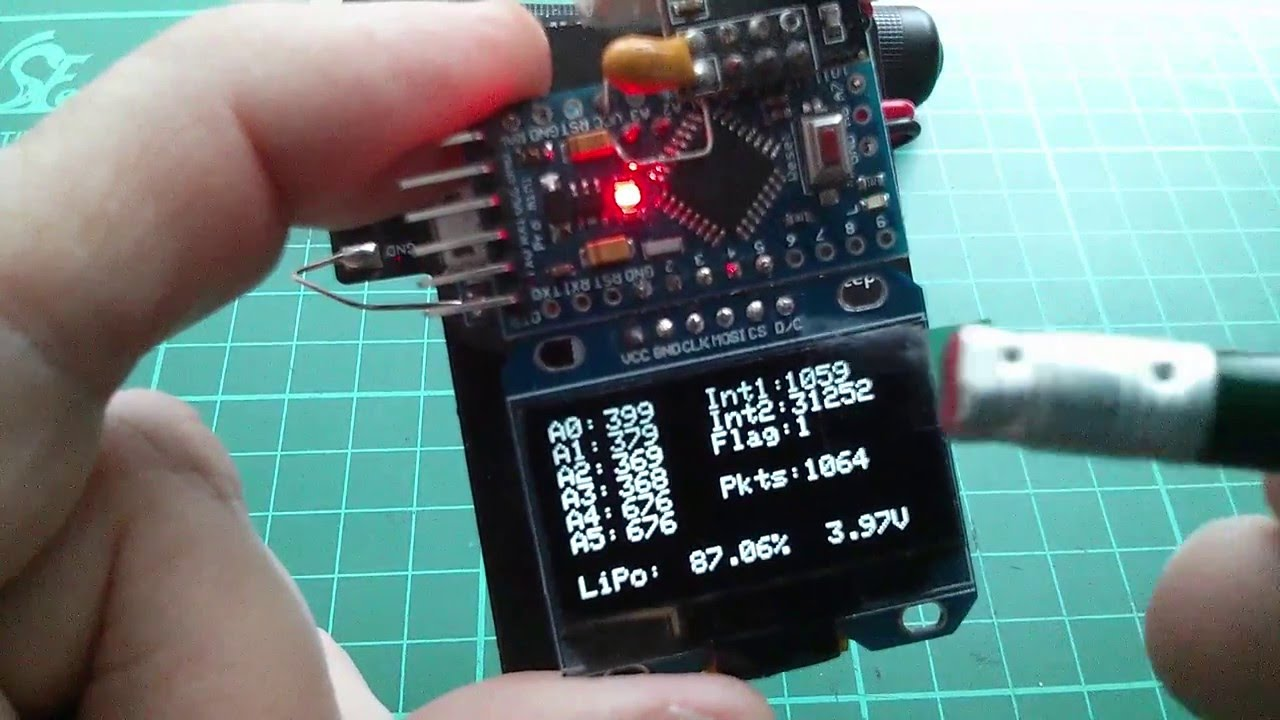 Arduino wearable oled data display project revisit youtube