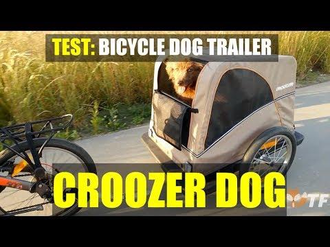 Test of: Dog bicycle trailer - CROOZER DOG