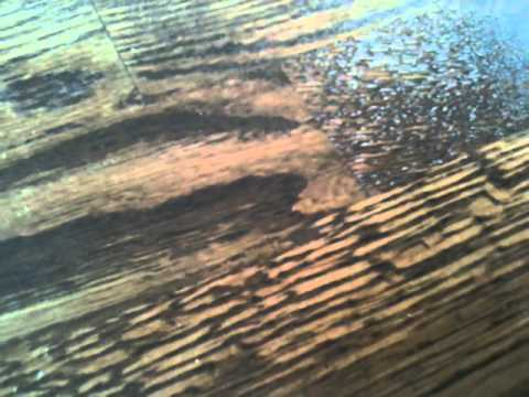 how to fix the dent on hardwood floor