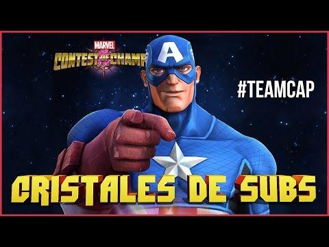 #TEAMCAP CIVIL WAR EN ESTRELLAS MARVEL BATALLA DE SUPERHÉROES CRISTALES DE SUBS #12