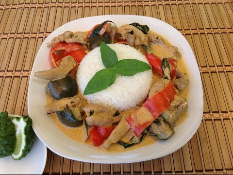 How To Cook Thai Curry Chicken-Eggplant-Asian Food Recipes