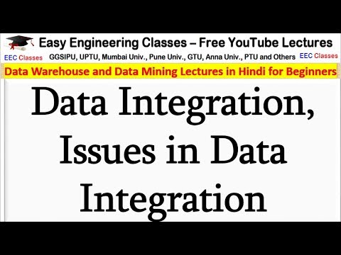 Data Integration, Issues In Data Integration - Data Warehouse And Data Mining Lectures